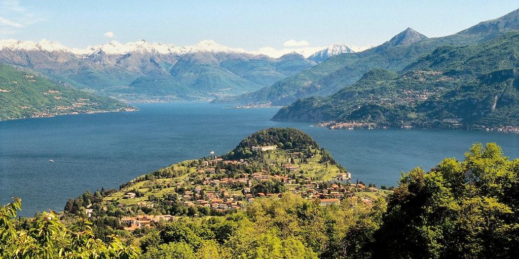 Bellagio est situé sur le promontoire