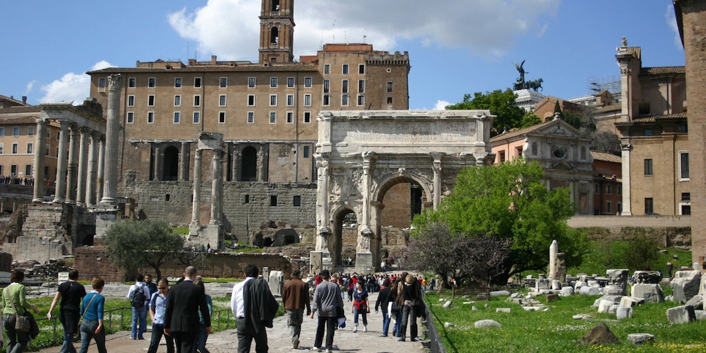 The ruins of the Roman Forum