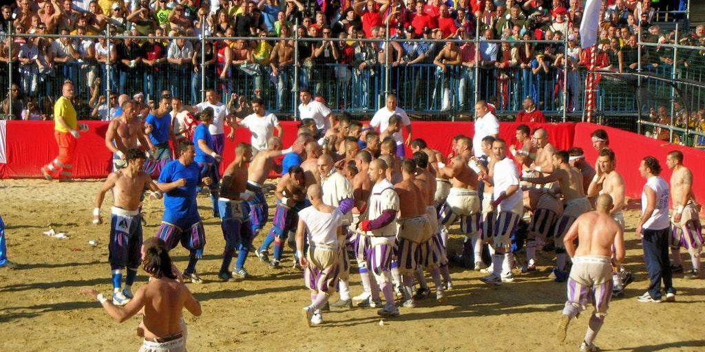 Calcio Storico, a crude form of rugby