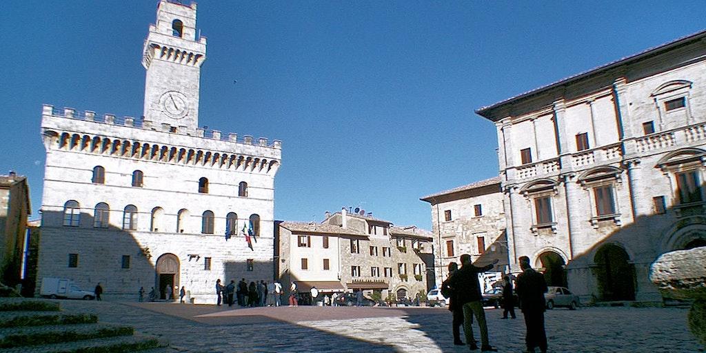 Palazzo Comunale på Piazza Grande i Montepulciano