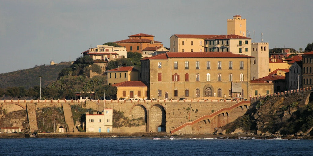 Port town on Elba
