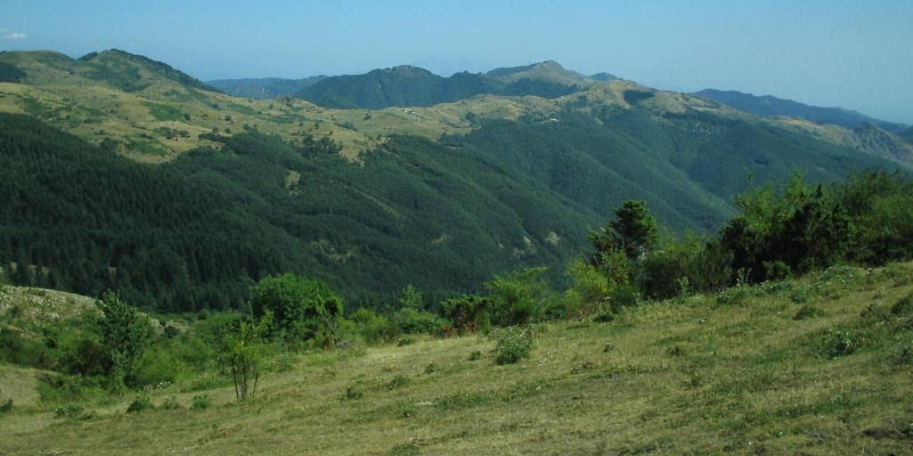 Paysage montagneux sur les Apennins
