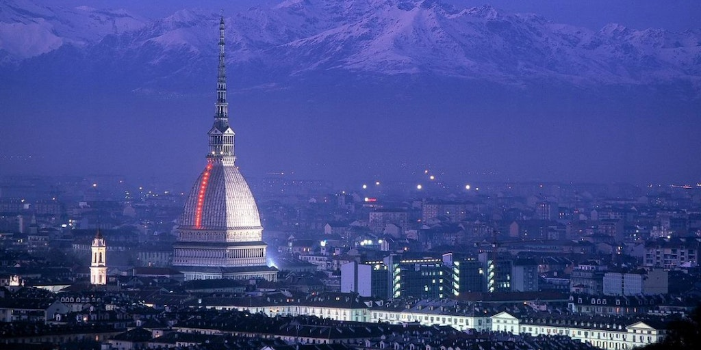 Turin with the majestic Alps in the background