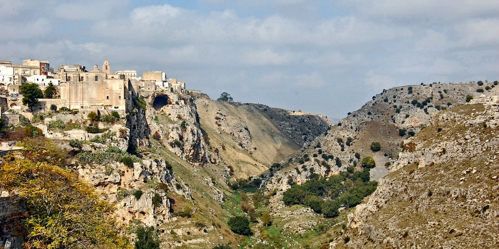 Gravina ravine with it's cave churches