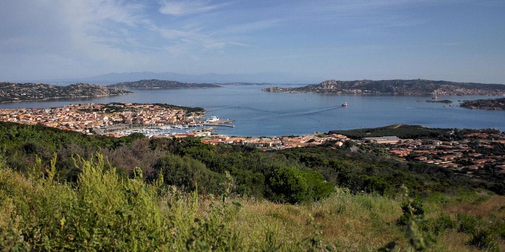 Udsigt over Porto Rotondo og bugten