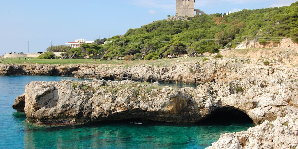 Rugged rocky coast and turquoise waters