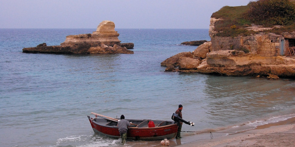 Along the Adriatic Sea is a fine contrast between lagoons and rocky coast