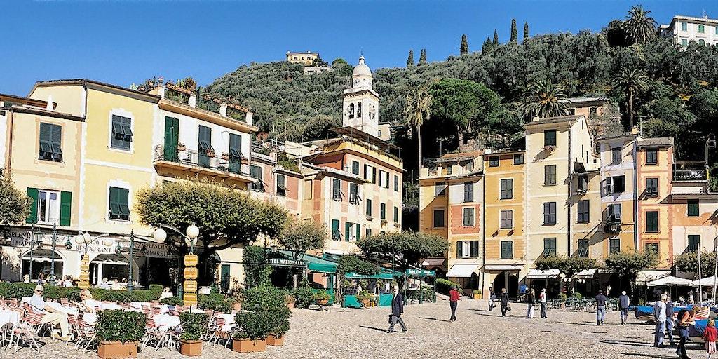 Hotel Eden ligger 50 m her fra Portofinos stemningsfulde torveplads