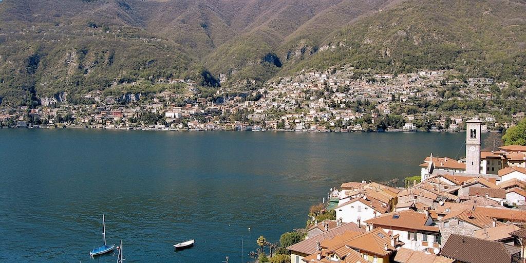 Besök de många småstäder längs Comosjöns bredd
