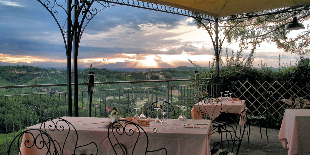 Views of the breathtaking scenery from Vinchio