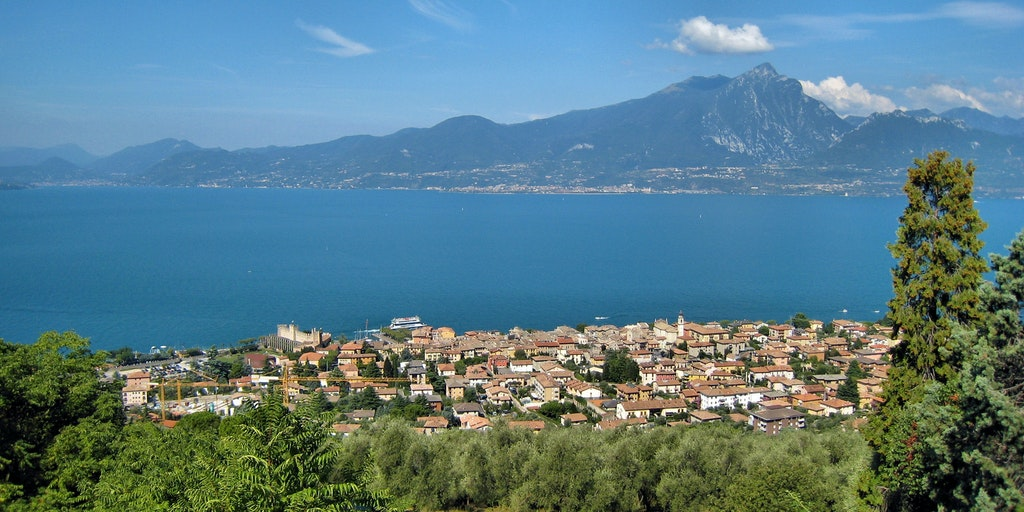 Torri del Benaco as viewed from the village Albisano