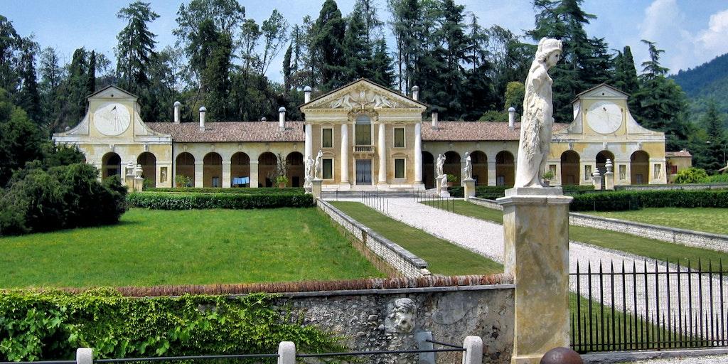 Et eksempel på en af Venetos mange palladianske villaer
