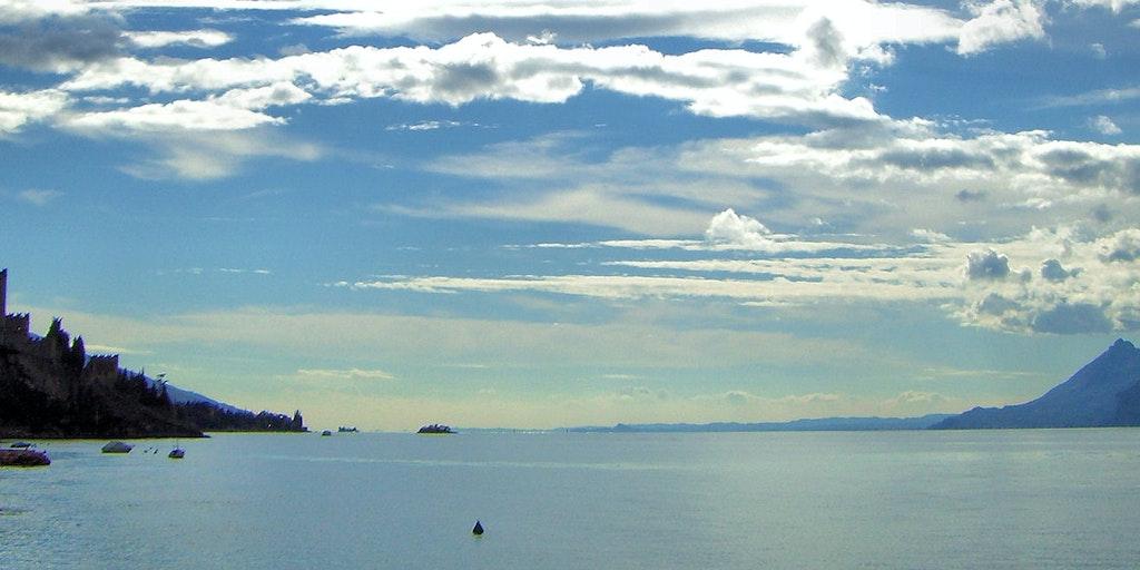 Coucher de soleil sur le lac de Garde