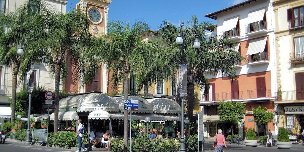 The main square Piazza Tasso