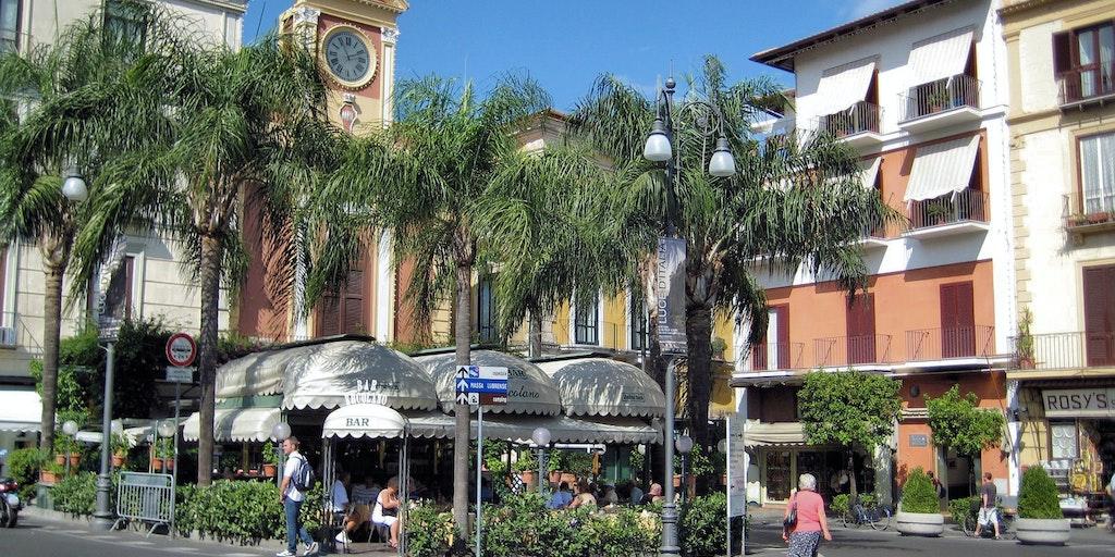 The main square Piazza Tasso