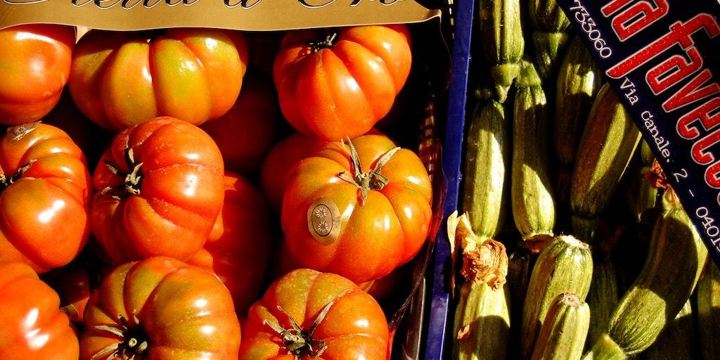 Sun-ripened vegetables