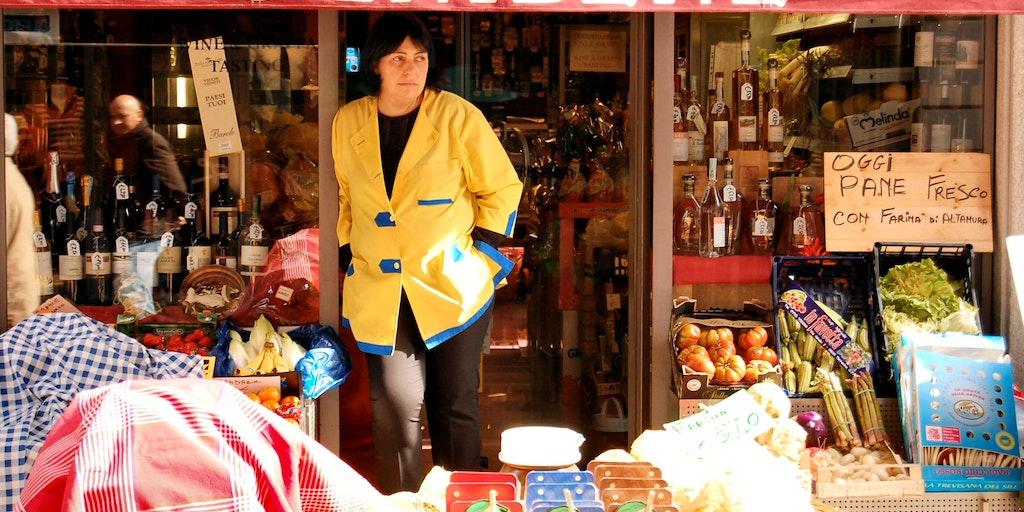 Delicatessen Business on the lively shopping street Via Vittorio Emanuele (also called Via Maestra)