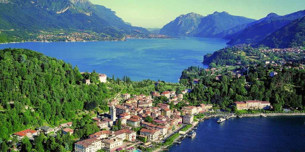 Bellagio is beautifully situated on Lake Como