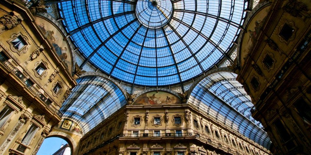 L'impressionnant toit de la Galleria Vittorio Emanuele II