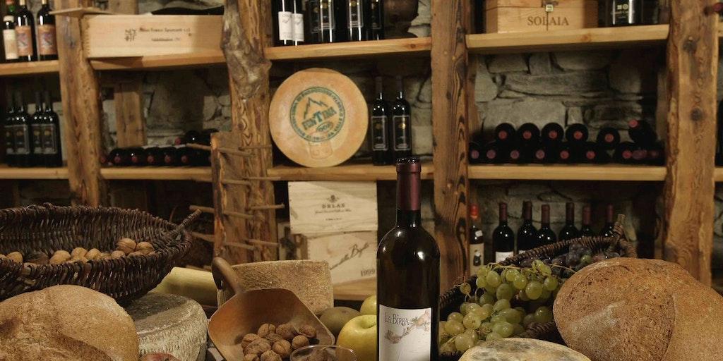 Romantic wine cellar