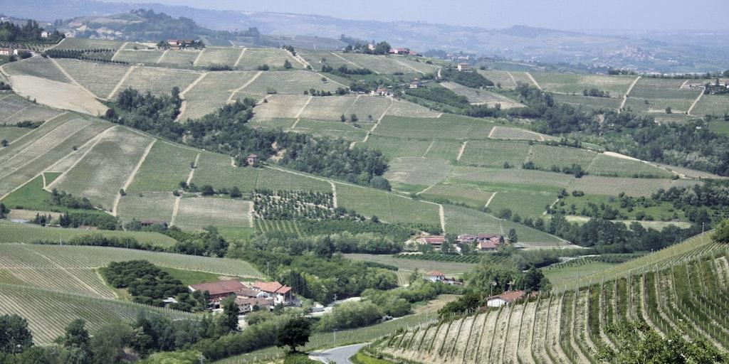 Vue de la ville sur la campagne