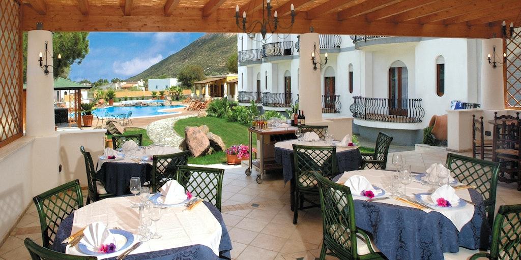 Restaurantens terrasse