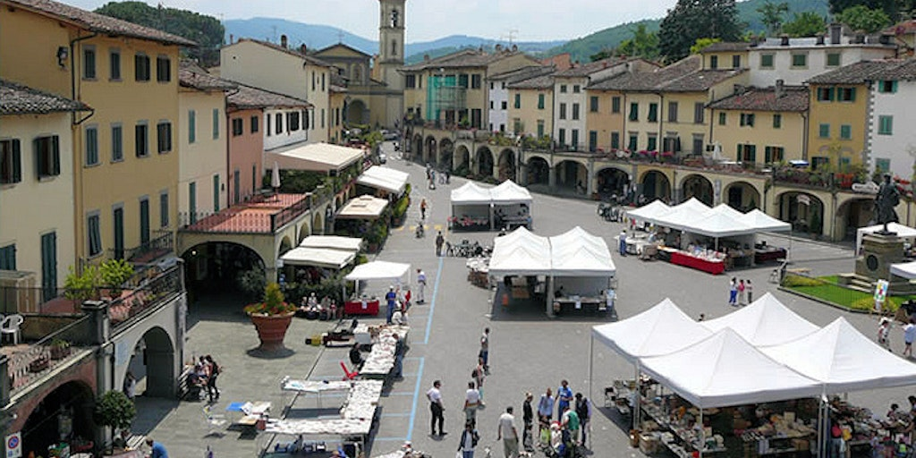 The square in Greve in Chianti