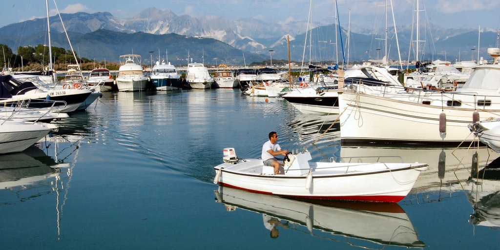 The marina in Bocca di Magra