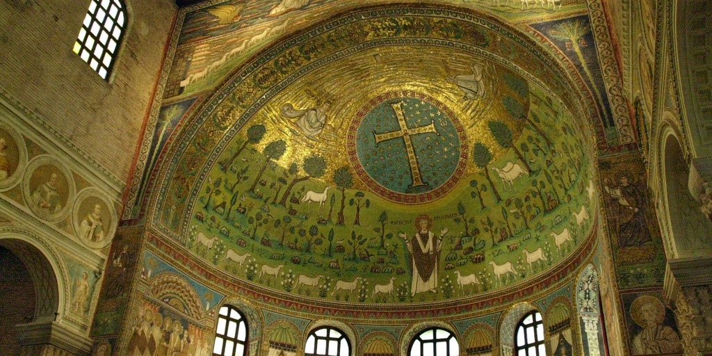 Breathtaking mosaic in the Basilica di Classe (outside Ravenna)