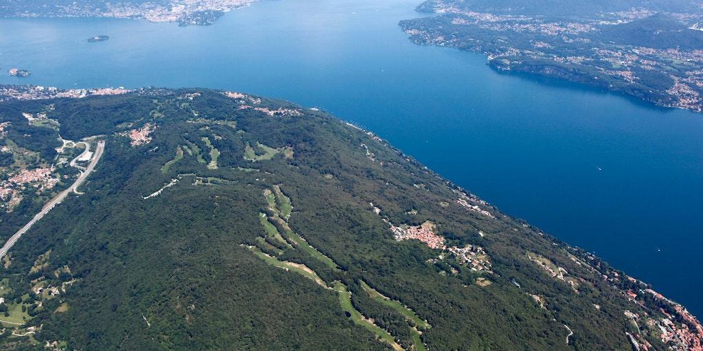 Golf Club Des iles Borromées' enastående läge vid Maggioresjön