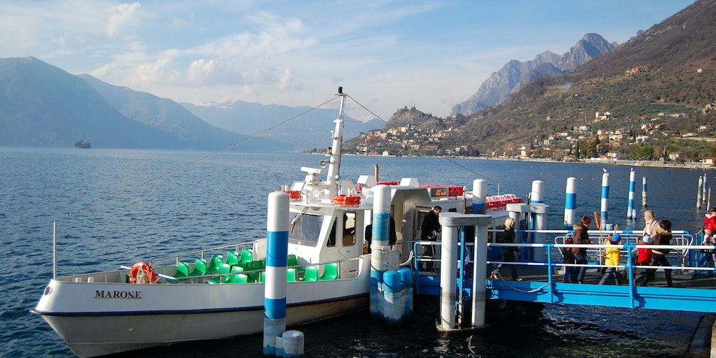 You can take a ferry out to Monte Isola from Sale Marasino.