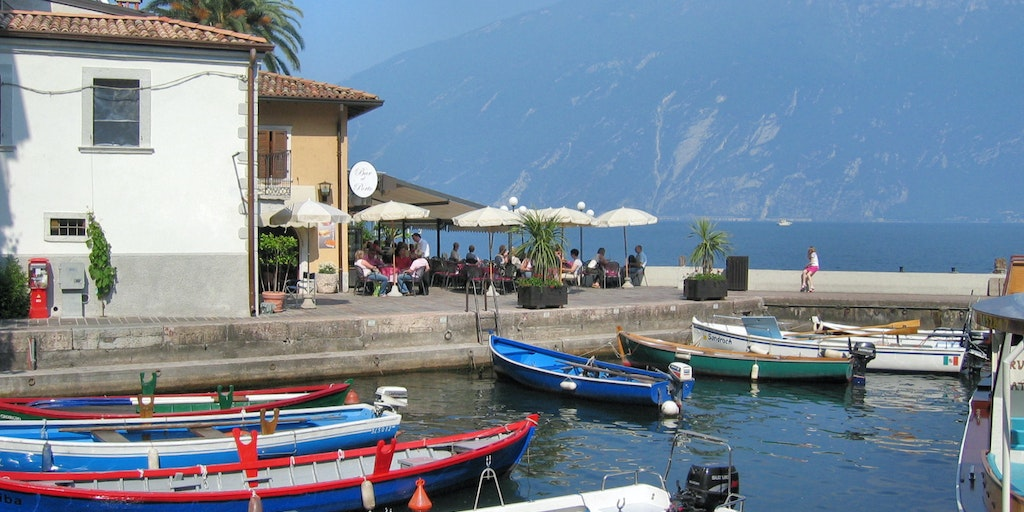 Small harbour in the center of Limone sul Garda
