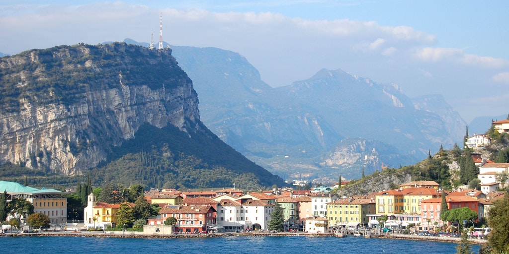 Riva del Garda as seen from the Lake