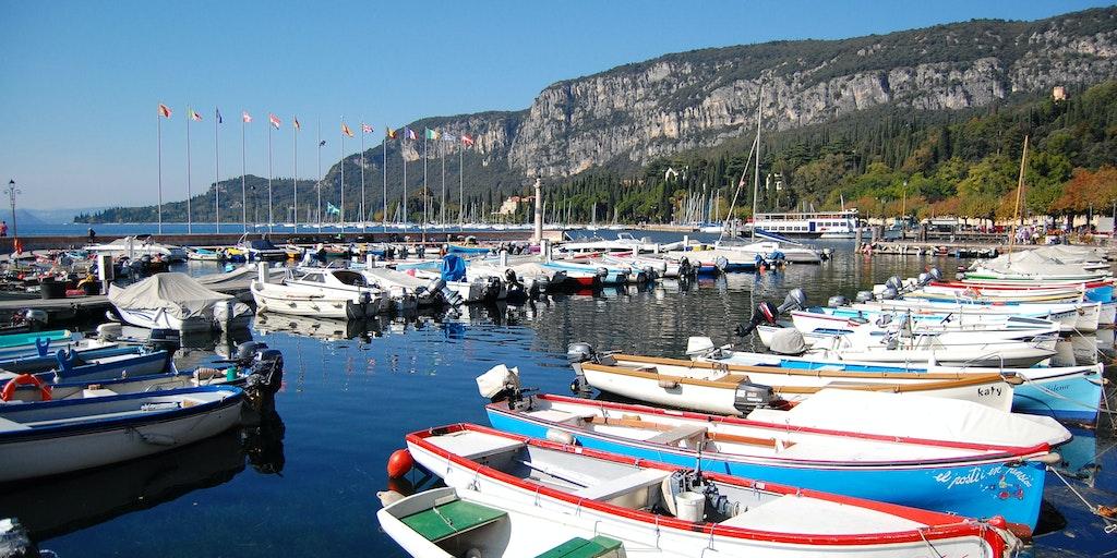 The yacht harbor in Garda