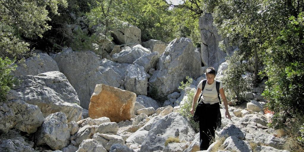 Vandring på Tiscali-berget