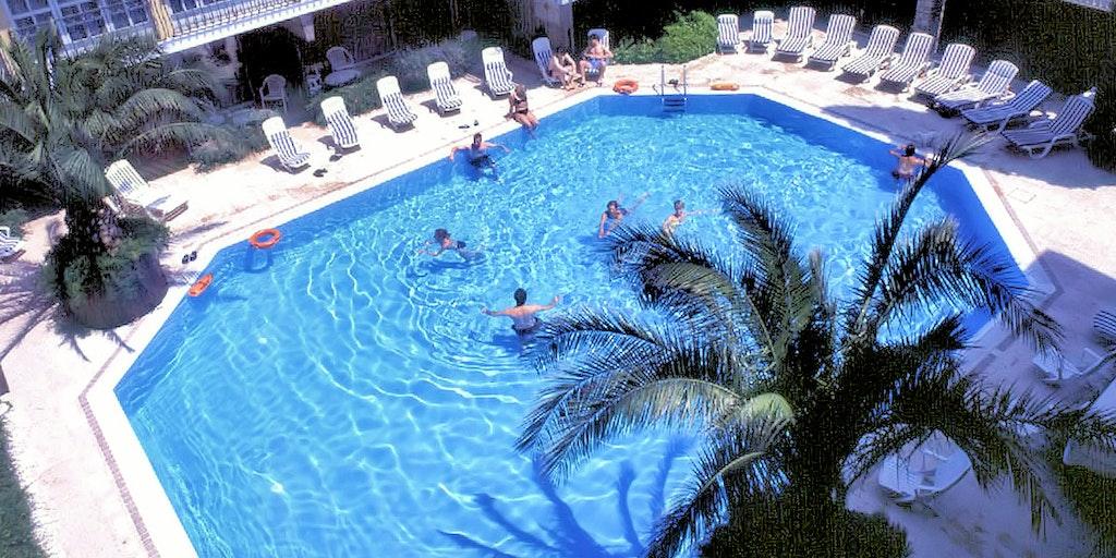 Swimmingpool på Hotel La Paul