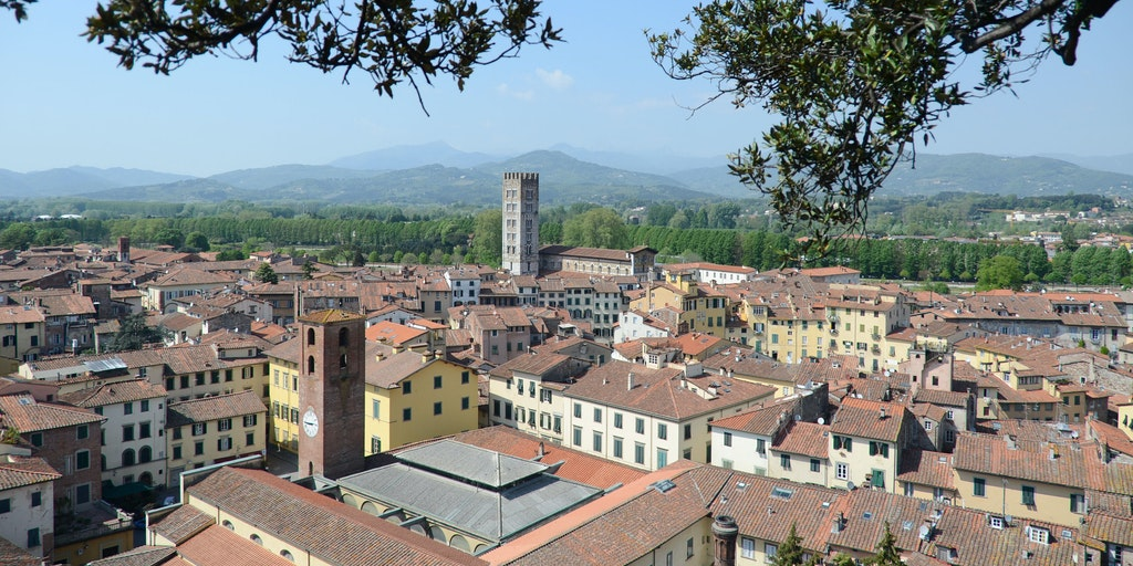 Lucca as seen from the air