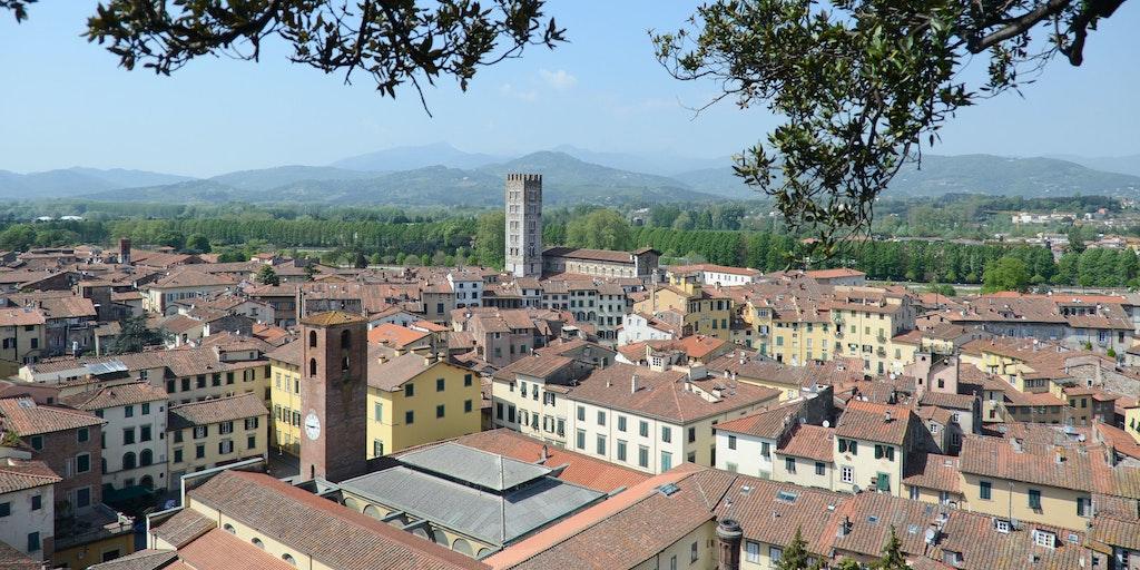 Lucca aus der Luft gesehen