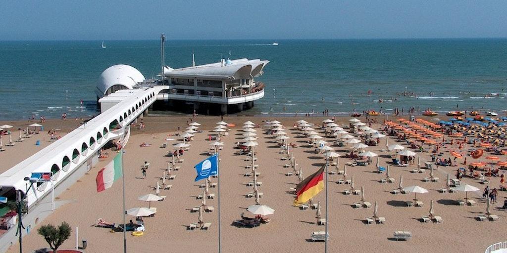 Stranden i Lignano