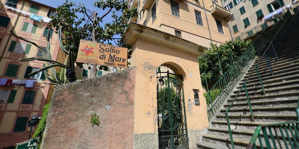 Der Eingang zum Soffio di Mare