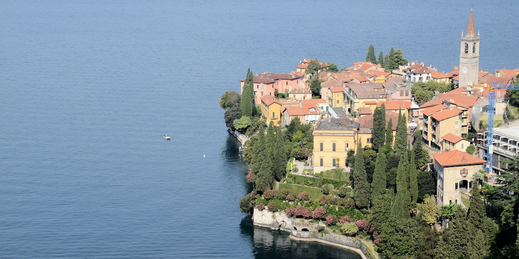 Varenna is beautifully out on a headland