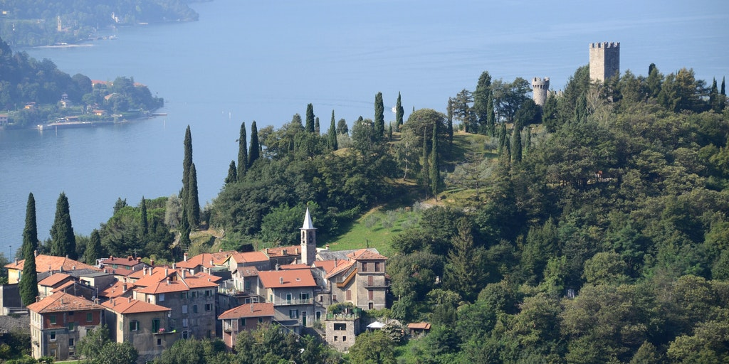 Neighbouring Perledo and Castello di Vezio