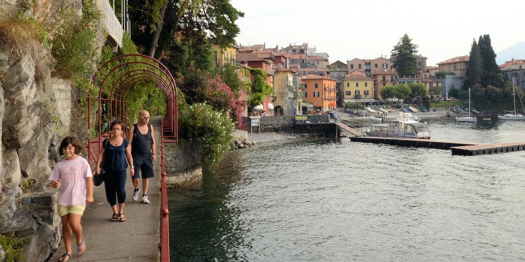 Lakefront promenade in Varenna