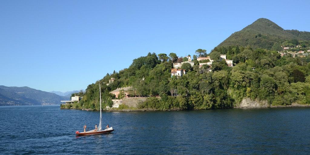 Das lebhafte Leben am Lago Maggiore