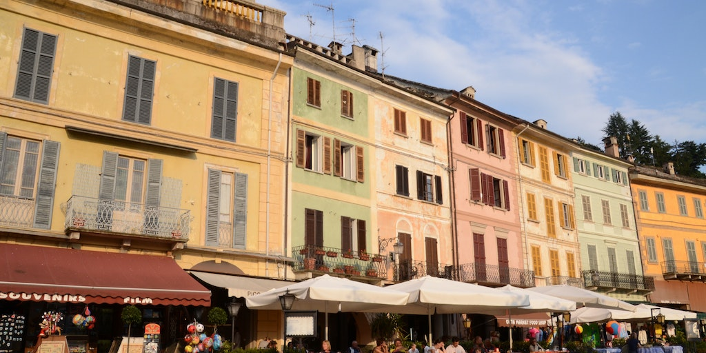 Piazza Motta with cafes, restaurants and shops