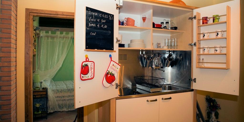 Küche für beide Zimmer