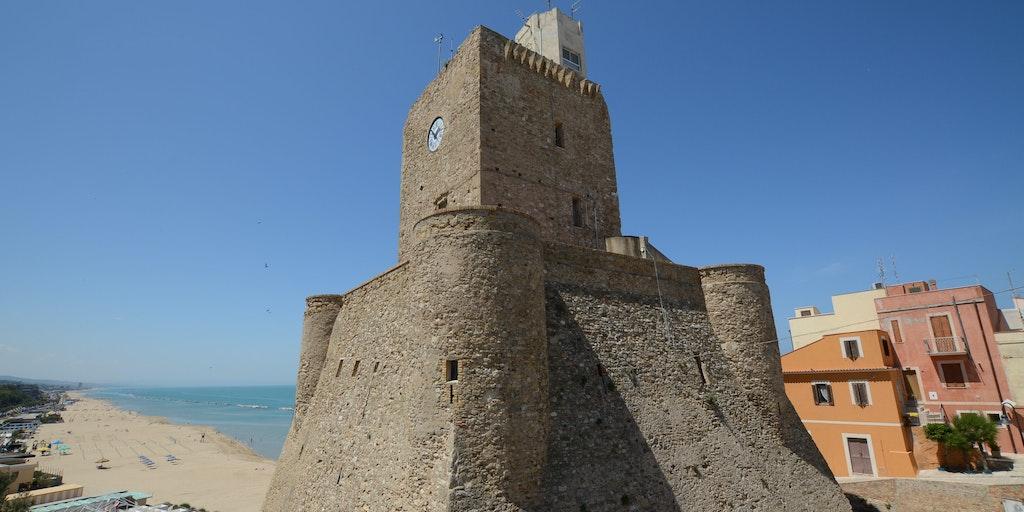 Kystbyen Termoli, der også har nogle skønne sandstrande