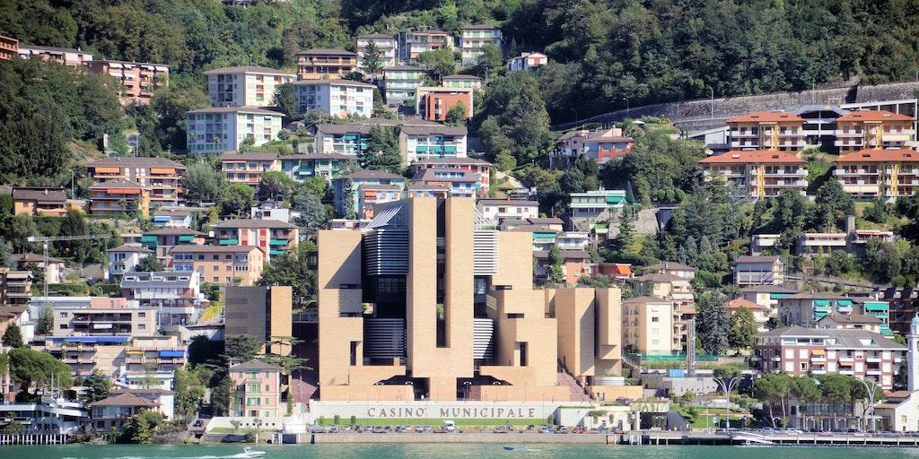 The Italian town of Campione d'Italia in Switzerland