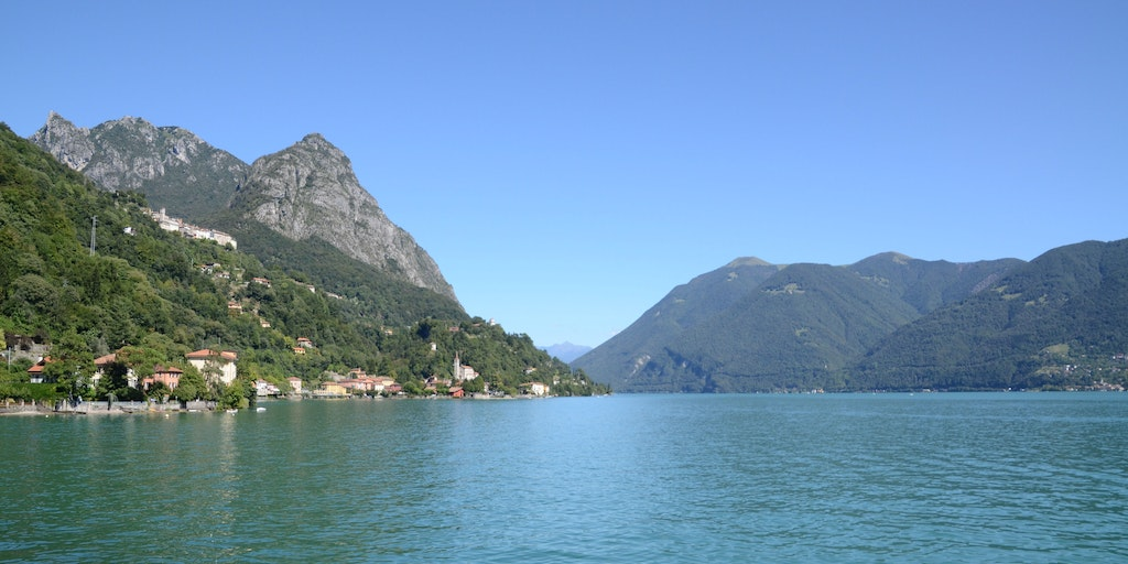 Lake Lugano is very unspoilt and rich in nature