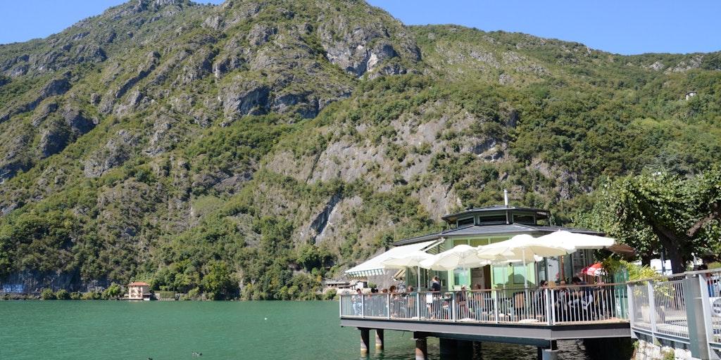 Enjoy refreshments along the lakeshore